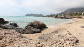 Spiaggia di Creta stock footage