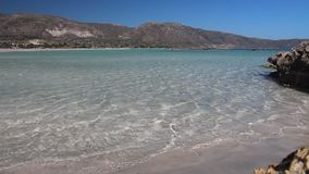 Spiaggia di Creta video d archivio