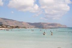 Spiaggia di Creta Fotografie Stock Libere da Diritti