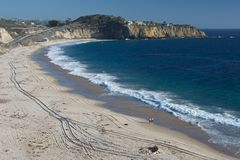 Spiaggia di cristallo della baia, California 002 fotografie stock