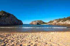 Spiaggia di Cuevas de marzo Immagini Stock
