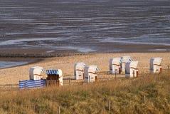 Spiaggia di Cuxhaven Fotografie Stock