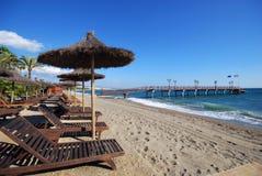 Spiaggia di Daitona, Marbella, Spagna. Immagini Stock