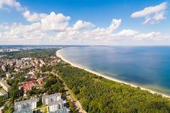 Spiaggia di Danzica, vista da sopra fotografia stock libera da diritti
