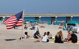 Spiaggia di Deerfield Fotografie Stock