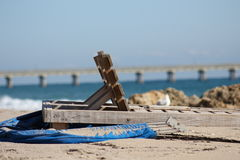 Spiaggia di Deerfield Immagine Stock