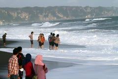 Spiaggia di Depok Fotografie Stock Libere da Diritti