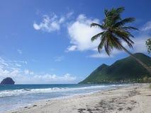 Spiaggia di Diamant, la Martinica Immagini Stock Libere da Diritti