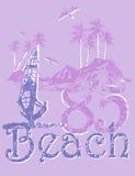 Spiaggia di disegno Fotografia Stock