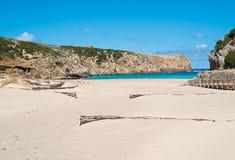 Spiaggia di domestica di Cala Fotografia Stock