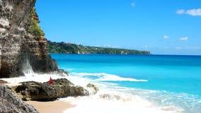 Spiaggia di Dreamland su Bali stock footage