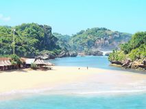 Spiaggia di Drini, Indonesia Fotografia Stock Libera da Diritti