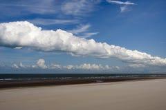 Spiaggia di Dunkirk, Francia Fotografie Stock
