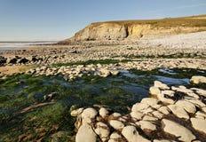Spiaggia di Dunraven, Southerndown Fotografia Stock Libera da Diritti