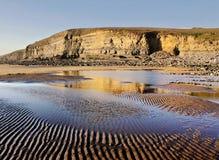 Spiaggia di Dunraven, Southerndown, Galles Immagine Stock Libera da Diritti