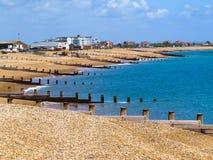 Spiaggia di Eastbourne Fotografie Stock Libere da Diritti