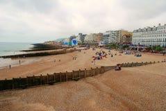 Spiaggia di Eastbourne, Inghilterra immagini stock libere da diritti