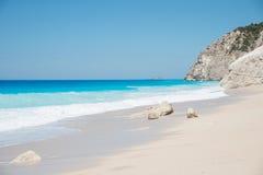 Spiaggia di Egremni Immagini Stock Libere da Diritti