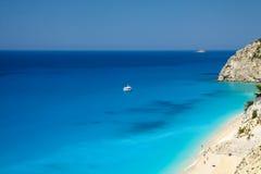 Spiaggia di Egremni, Leucade, Grecia Fotografia Stock Libera da Diritti