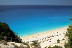 Spiaggia di Egremni, Leucade, Grecia Fotografie Stock