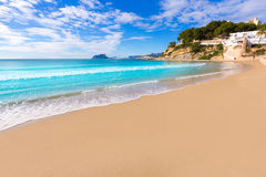Spiaggia di EL Portet di playa di Moraira in Alicante Fotografia Stock Libera da Diritti