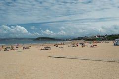 Spiaggia di EL Sardinero Fotografia Stock