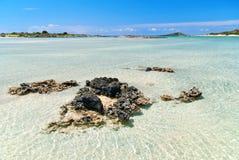 Spiaggia di Elafonisi fotografie stock libere da diritti