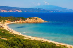Spiaggia di Elias, Skiathos, Grecia Immagini Stock Libere da Diritti