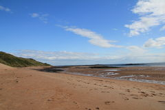 Spiaggia di Embleton, sembrante del nord fotografia stock libera da diritti
