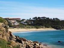 Spiaggia di Ermida Lanzada - costa del nord Spagna Fotografie Stock Libere da Diritti