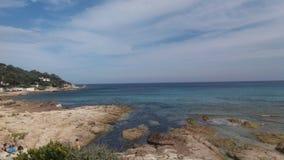 Spiaggia di Estanquet Immagini Stock
