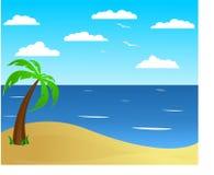 Spiaggia di estate Fotografie Stock