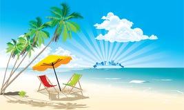 Spiaggia di estate Immagine Stock