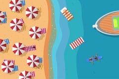 Spiaggia di estate piana Fotografie Stock