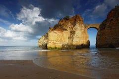 Spiaggia di Estudantes a Lagos, Portogallo Fotografia Stock