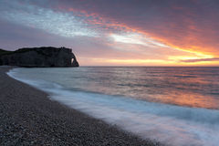 Spiaggia di Etretat Fotografia Stock Libera da Diritti
