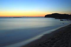 Spiaggia di Falasarna dopo il tramonto Fotografia Stock