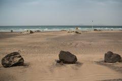 Spiaggia di Famara Fotografie Stock Libere da Diritti