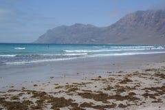 Spiaggia di Famara, Lanzarote, isola di canarias Fotografia Stock