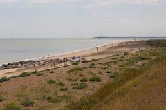 Spiaggia di Felixstowe Immagini Stock