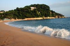 Spiaggia di Fenals Fotografie Stock Libere da Diritti
