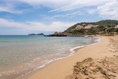 Spiaggia di Figueral in Ibiza fotografia stock