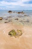Spiaggia di Figueral in Ibiza Immagini Stock