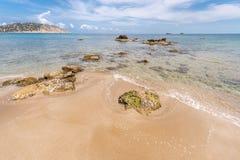Spiaggia di Figueral in Ibiza Fotografie Stock