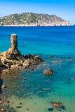 Spiaggia di Figueral in Ibiza, Spagna Fotografia Stock Libera da Diritti