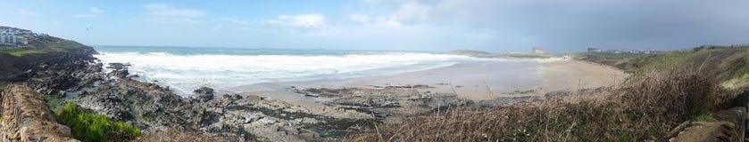 Spiaggia di Fistral Newquay cornwall Fotografia Stock Libera da Diritti