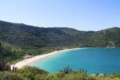 Spiaggia di Forno - Arraial faccia Cabo - il Brasile Fotografia Stock Libera da Diritti
