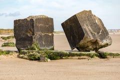 Spiaggia di Fraisthorpe, guida orientale di Yorkshire, Regno Unito Fotografie Stock Libere da Diritti