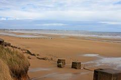 Spiaggia di Fraisthorpe, Yorkshire Immagini Stock Libere da Diritti