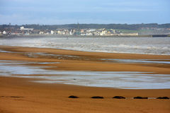 Spiaggia di Fraisthorpe, Yorkshire Fotografia Stock Libera da Diritti